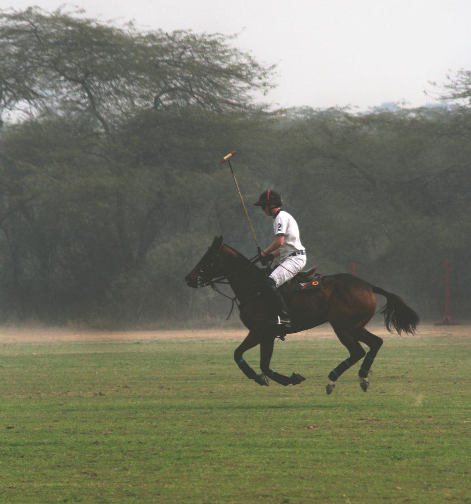 Polospieler auf einem Pferd