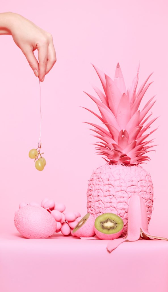 Pinke Früchte