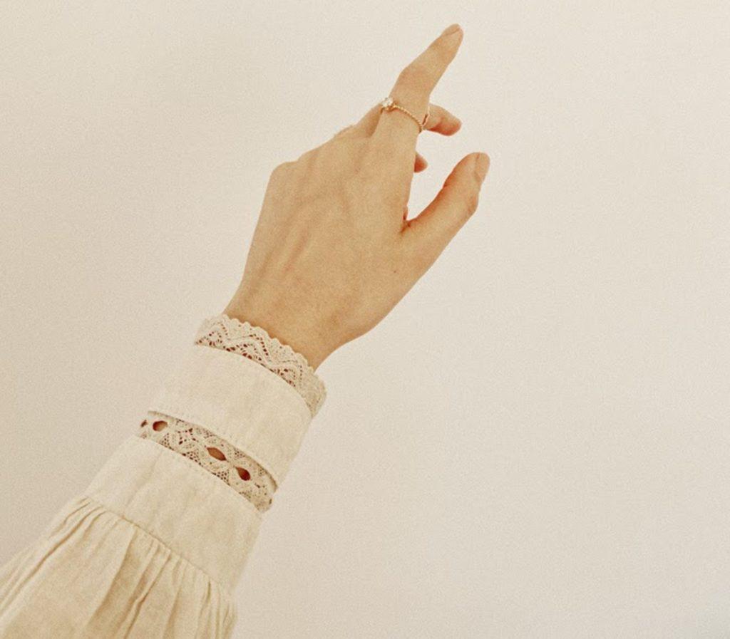 Hand einer Frau