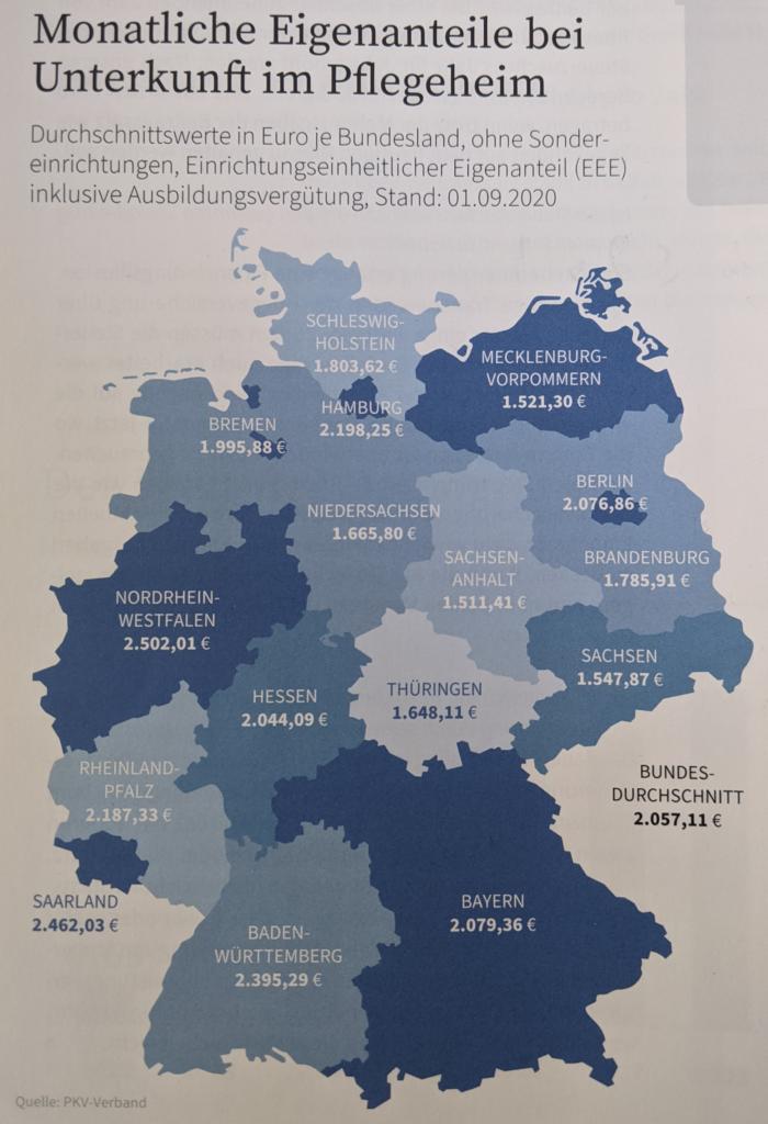 Eigenanteil nach Bundesland