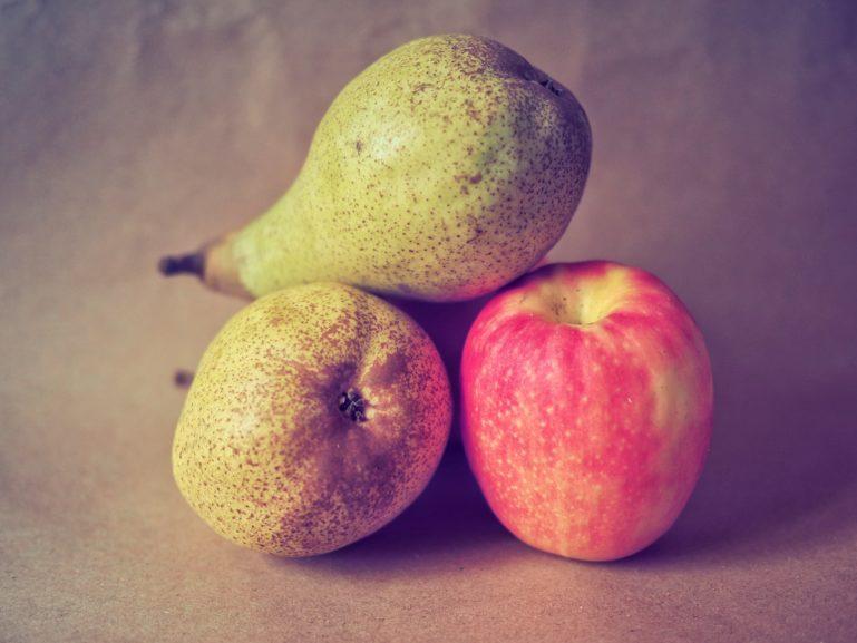 Apfel und Birnen